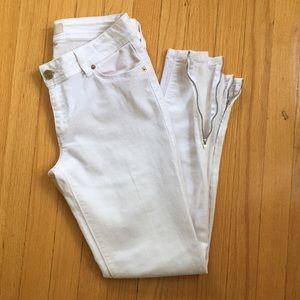 Zara white jeans size 8